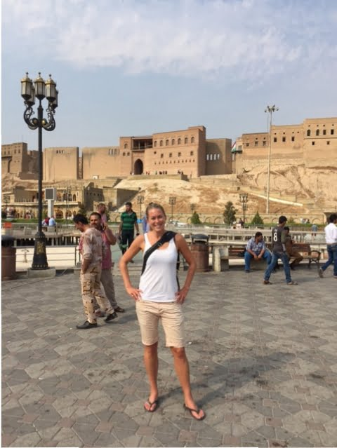 Framför Castellet i Erbil.